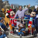 Peyton Manning Celebrates Super Bowl Victory at Disneyland Resort