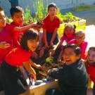 Students Harvest First Crop from Teaching Garden Funded by the Disneyland Resort